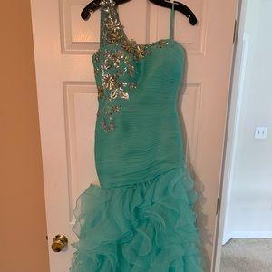 Dresses & Skirts - Mint prom dress (custom made)